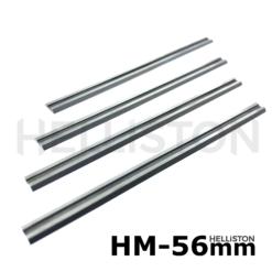 HM TCT Höövliterad 56 x 5,5 x 1,1 mm, kõvametall (wolframkarbiid), kahepoolne tera elektrihöövlitele Bosch GHO 12V-20, Adler BH 556, Hoffmann BH-556, Wegoma AP98 jne